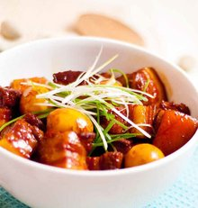 红烧肉炒青椒蛋荷兰豆虾仁炒鹌鹑图片