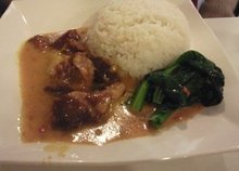 蔬菜咖喱牛腩饭