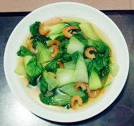 干虾仁炒油菜