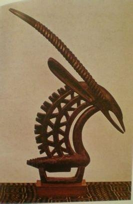 羚羊木雕小摆件