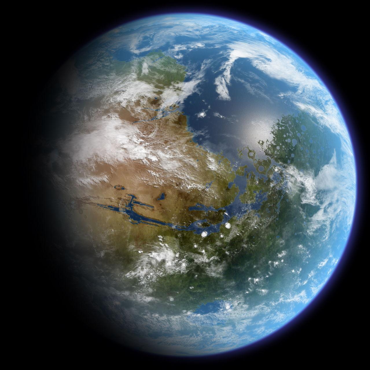 比较可行的地方  火星  总面积约与地球陆地一样大,但太阳幅射只有地