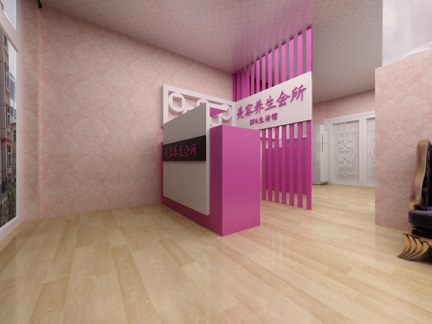 美容院門口正對的吧臺背景放鏡子好嗎