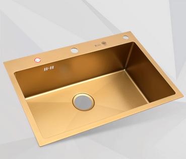 厨房水槽按材料分钢板珐琅,陶瓷,人造石,亚克力,结晶石水槽,不锈钢图片