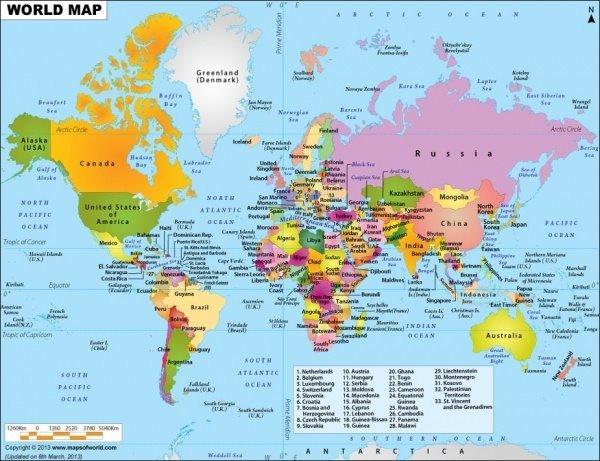 系列世界地图