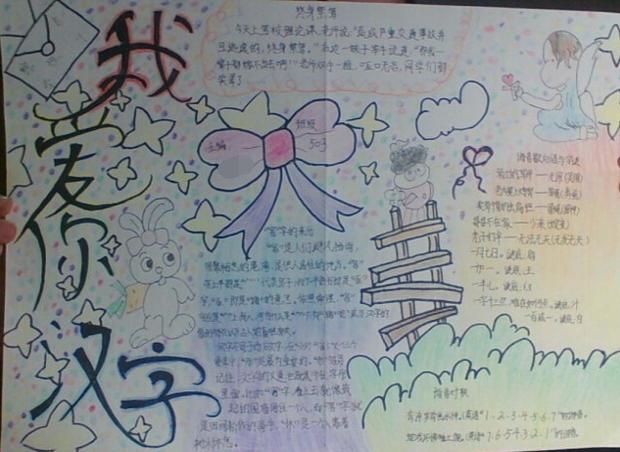 关于汉字的手抄报图片怎么画