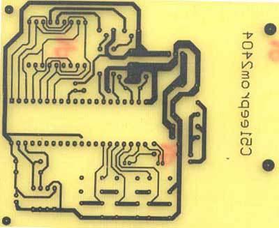8,用热转印纸制作电路板的流程 (1)用protel画出您所需要的印刷电路