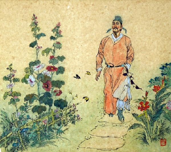 杜甫的《江畔独步寻花七绝句之五》古诗词