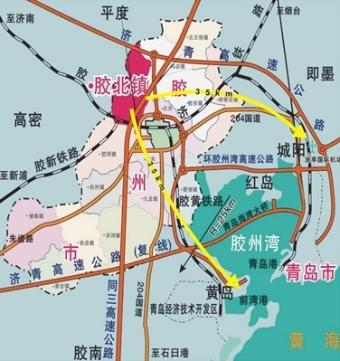 胶州胶北镇地图