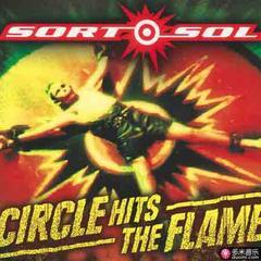 circle hits the flame