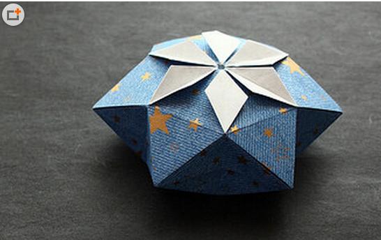 圣诞礼物盒的折法或视频
