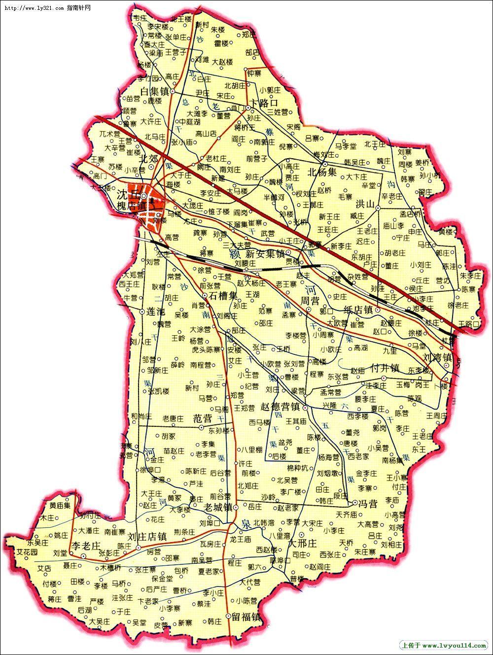 沈丘县地图