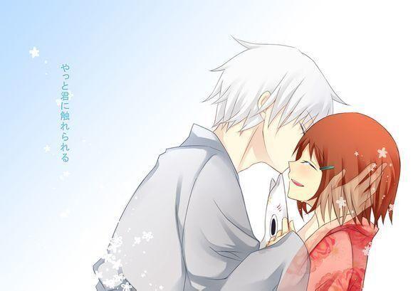 接吻动漫图片