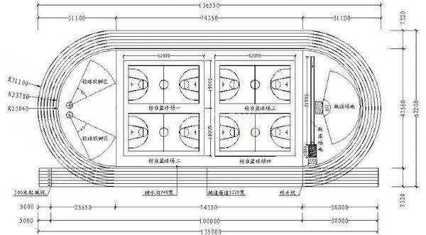 250米环形跑道的具体尺寸_360v环形小学陈家高陵滩图片