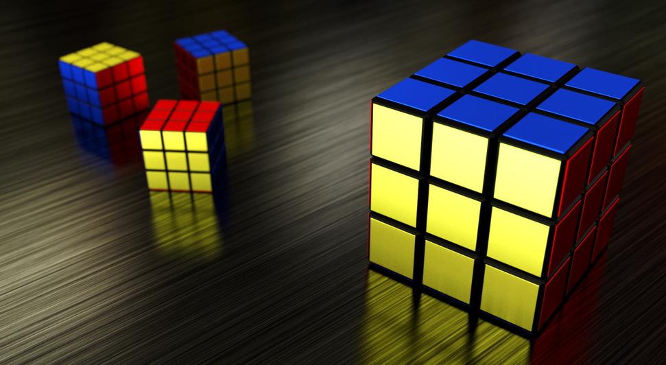 3乘3魔方顶层棱块归位图解