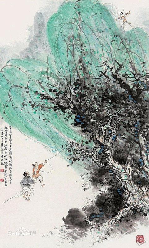 描写乡村风光的古诗词和它的插画