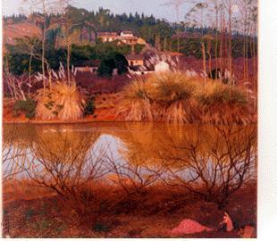 再苦,再穷,从不放弃,坚持不断的探索,画下了无数的写生画,乡间的竹林